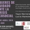 Alicante | Diálogo: Mujeres de cuidado ante la crisis ecosocial