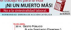 Burgos | Concentración contra la siniestralidad laboral