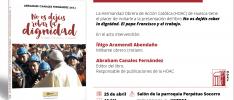 Huesca | Presentación del libro «No os dejéis robar la dignidad. El papa Francisco y el trabajo»