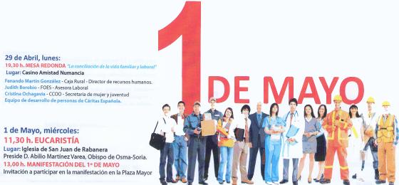 Osma-Soria | Mesa redonda y Eucaristía del Primero de Mayo