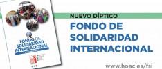 Nuevo díptico del Fondo de Solidaridad Internacional de la HOAC