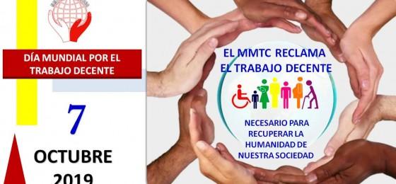 #7oct | El MMTC reclama priorizar el trabajo decente