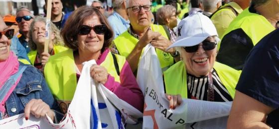 #PensionesDignas | Militantes de la HOAC en las movilizaciones