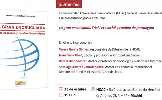 Madrid | Presentación del libro La gran encrucijada