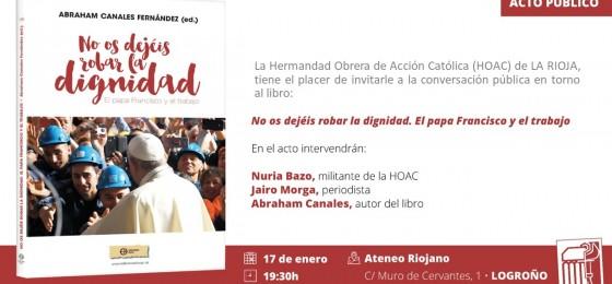 Logroño | Presentación del libro Nos os dejéis robar la dignidad