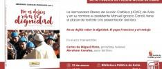 Ávila | Presentación del libro No os dejéis robar la dignidad. El papa Francisco y el trabajo