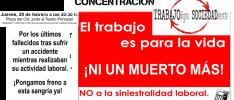 Burgos | Concentración contra los accidentes laborales