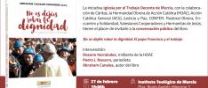 Murcia | Presentación del libro «No os dejéis robar la dignidad. El papa Francisco y el trabajo»