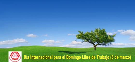 Declaración con motivo del Día para el Domingo Libre de Trabajo