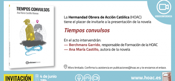 Presentación de la novela «Tiempos convulsos»
