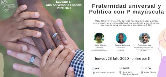Fraternidad universal y Política con P mayúscula