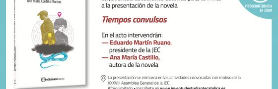 Presentación de la novela Tiempos convulsos a militantes y antiguos militantes de la Juventud Estudiante Católica (JEC)