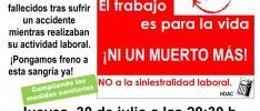 Burgos | Concentración de solidaridad con las víctimas de accidentes de trabajo