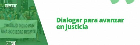 Dialogar para avanzar en justicia