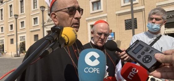 Francisco anima a la Iglesia española a seguir acompañando a quienes más sufren la pandemia: enfermos, trabajadores e inmigrantes