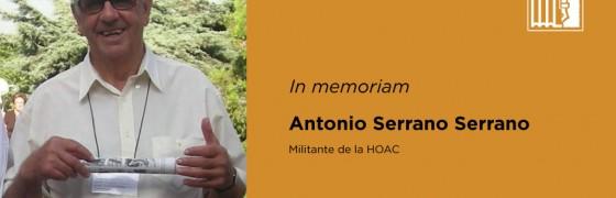 In memoriam   Antonio Serrano