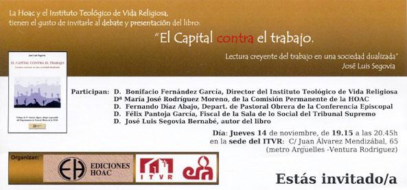 Hoac presentaci n de el capital contra el trabajo foro de laicos - Oficina de empleo de segovia ...